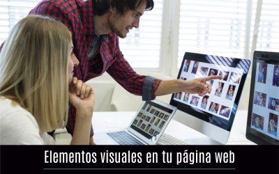 Elementos visuales en tu página web