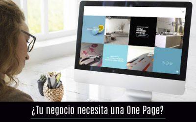¿Tu negocio necesita una One Page?